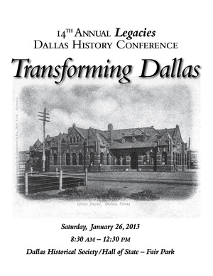 14th History Conference registration brochure